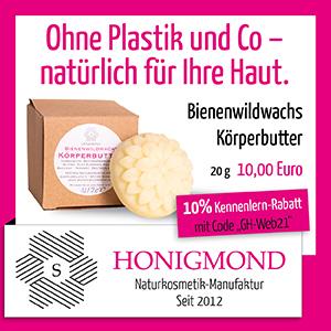 Anzeige der Honigmond Manufaktur