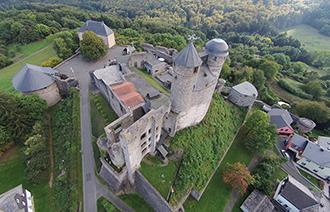 Burg Greifenstein aus der Vogelperspektive