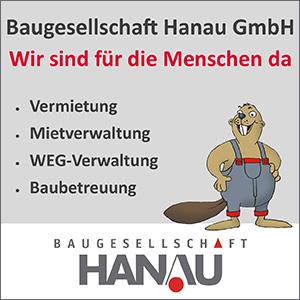 Anzeige der Baugesellschaft Hanau