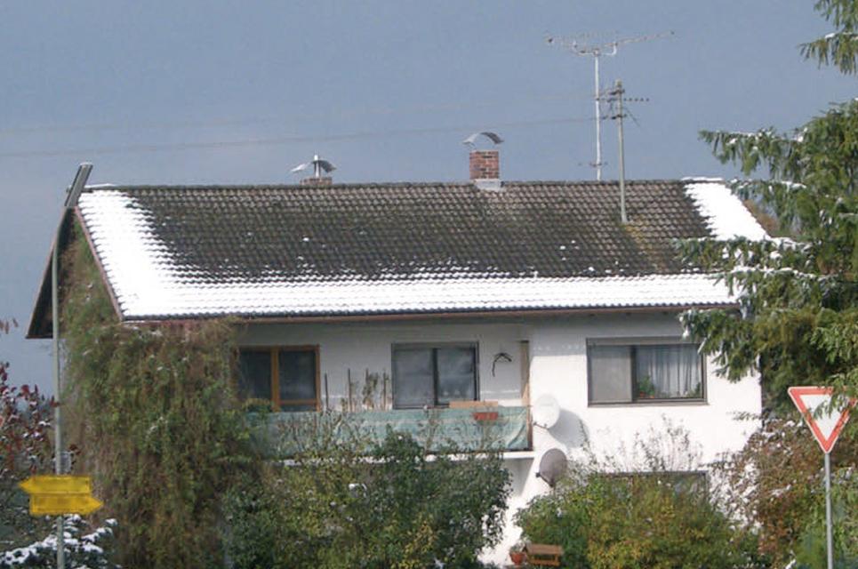 Ein Haus mit schlecht gedämmtem Dach