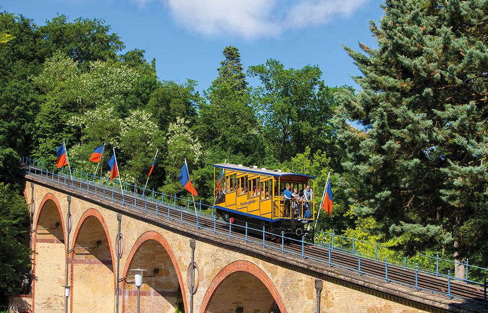 Blick auf die Nerobergbahn