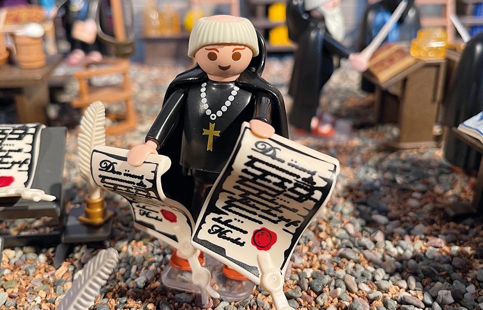 Eine Mönchs-Playmobilfigur